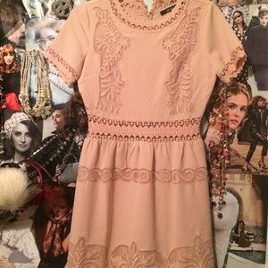 Ark and CO blush  Sienna embroidered lace dress